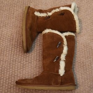 Sonoma Shoes - (SOLD) Sonoma 'Belina' Chestnut Suede Boots